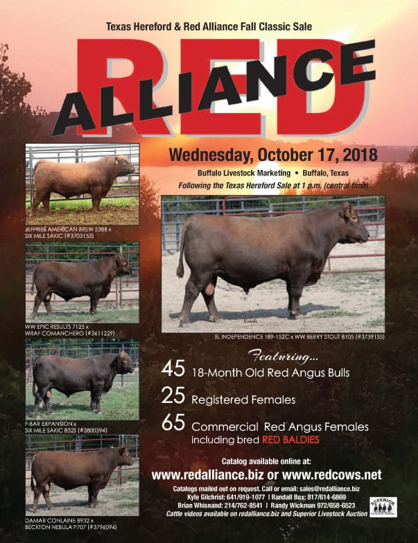 Red Alliance Fall Production Sale - October 17, 2018